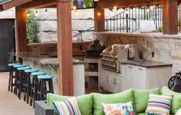 shabby chic driftwood outdoor kitchen