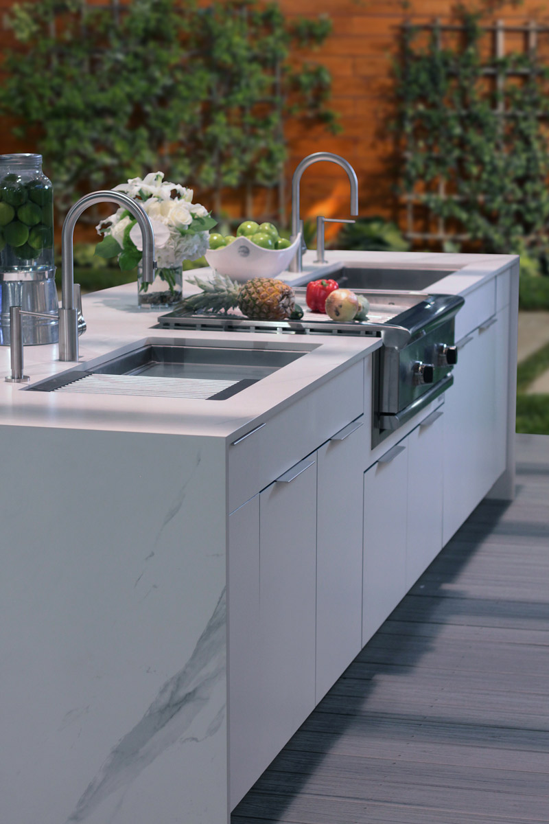 Contemporary Weatherproof Cabinets Euro Door Style